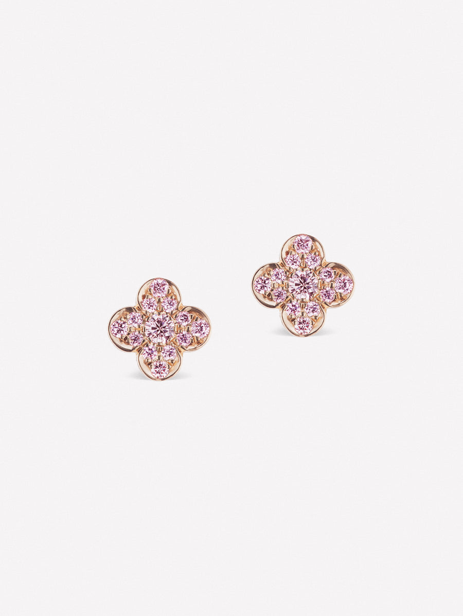 Pink diamond studs from JFINE Azalea collection