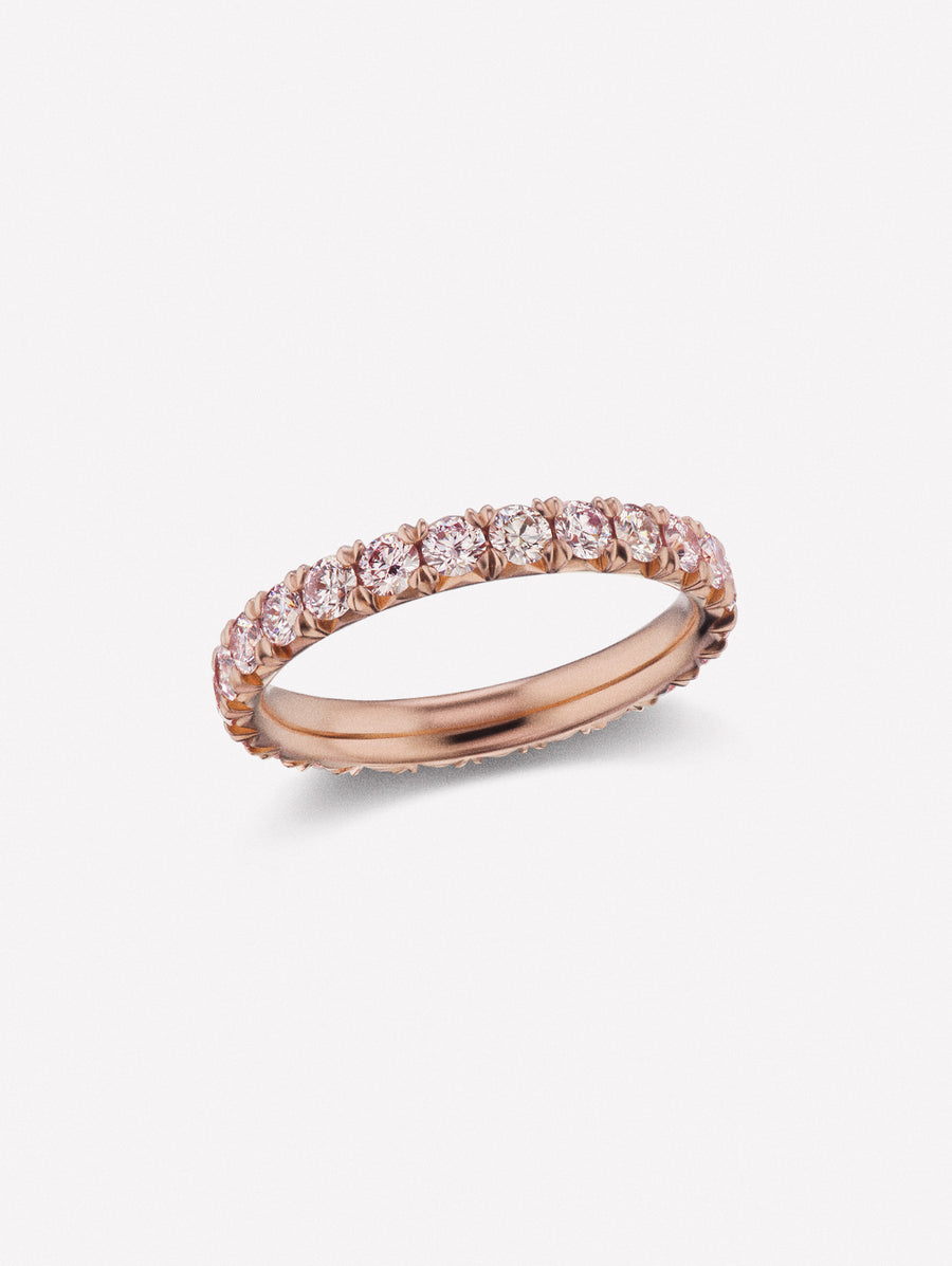 Argyle Pink™ Diamond French Pave Eternity Band 1.72ctw Certified by J F I N E .