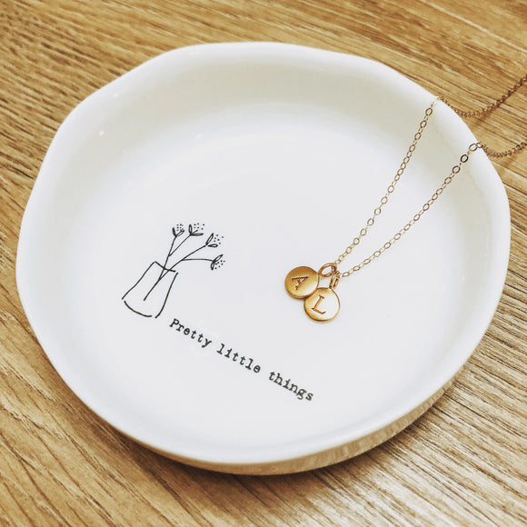 Initial Necklace - Stamped