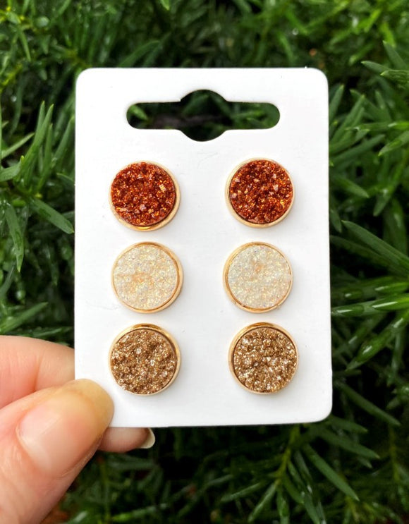 Bronze Colors Earring Set