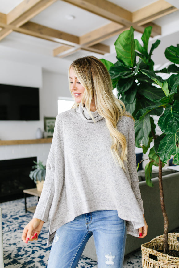 Sassy Cowl Neck Sweater