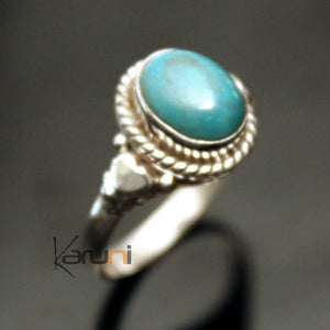 bague argent turquoise indienne
