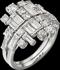 bague diamant baguette cartier