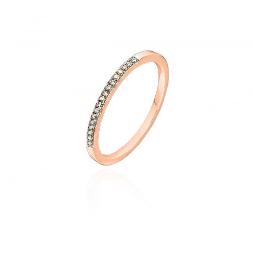 bague diamant brun or rose