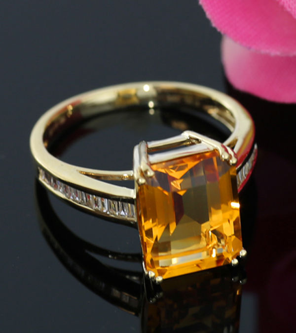 bague diamant orange