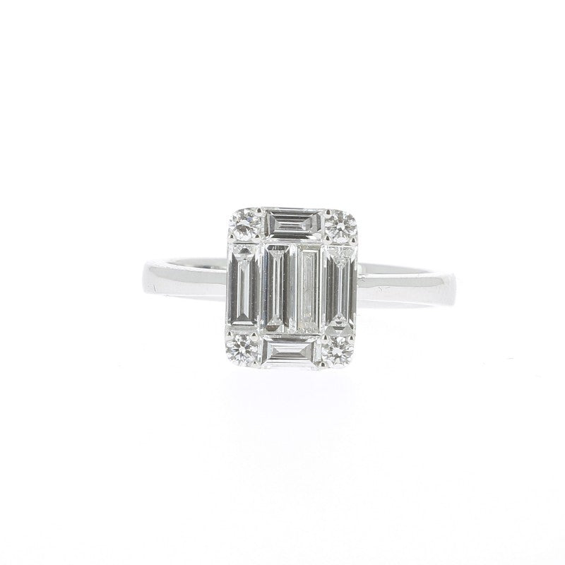 bague diamant rectangulaire