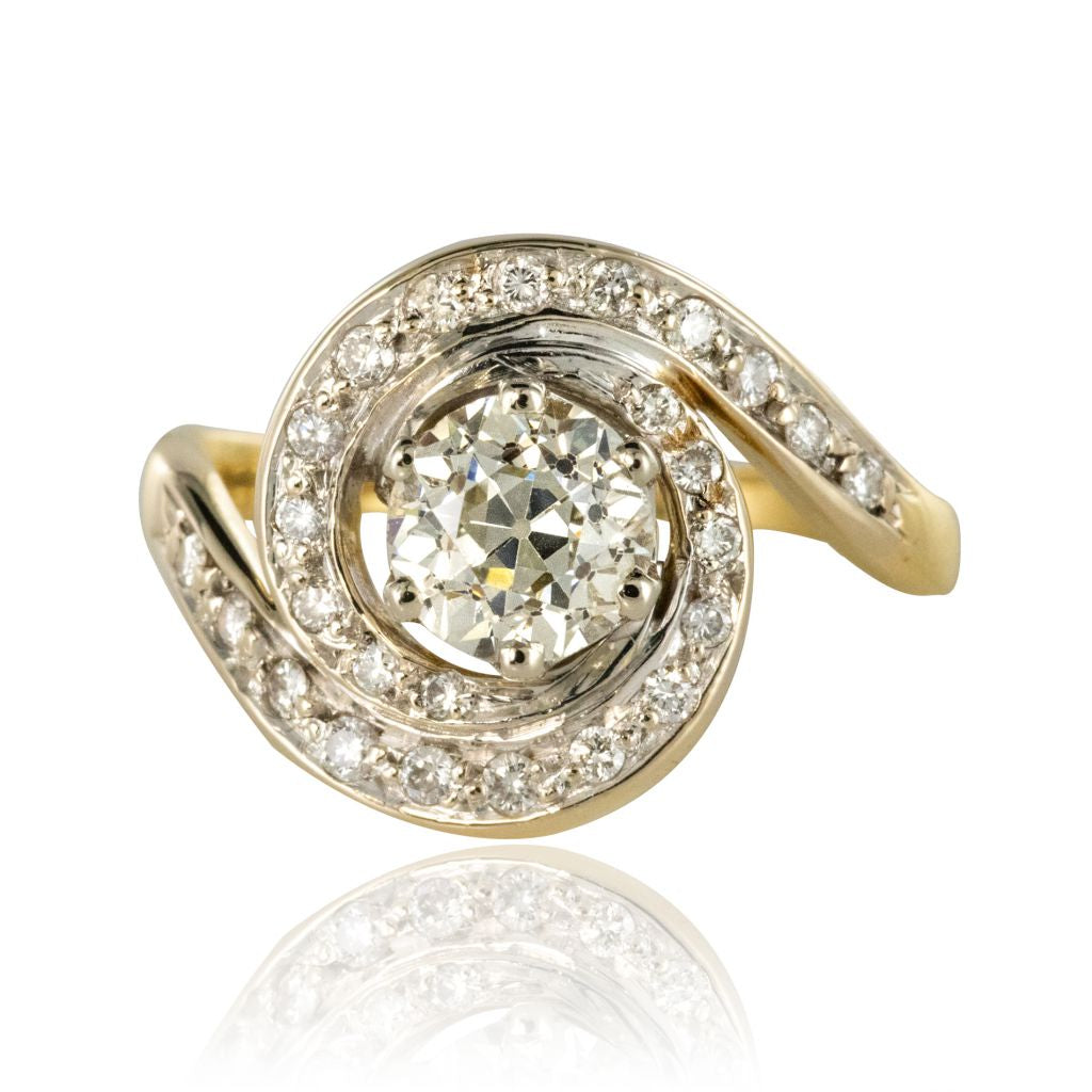 bague diamant tourbillon