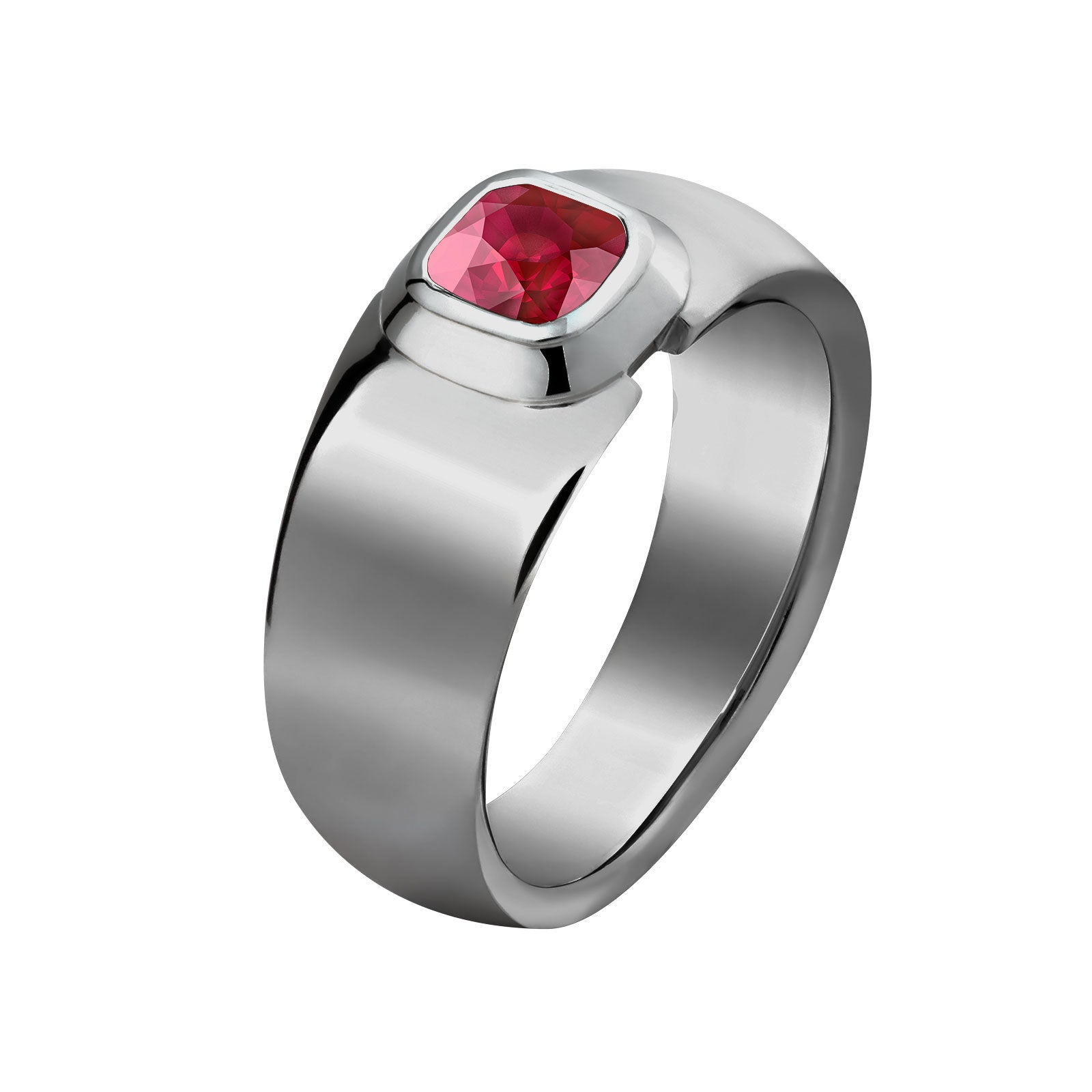 bague homme ruby