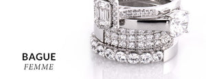 bague or blanc diamant cleor