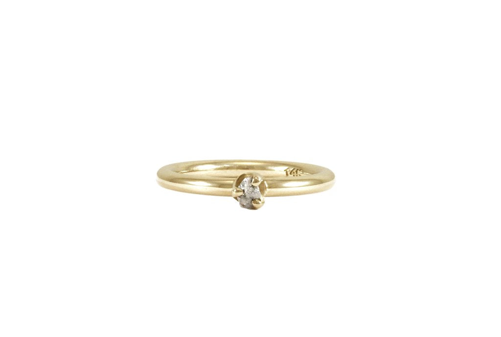 bague or jaune 14k