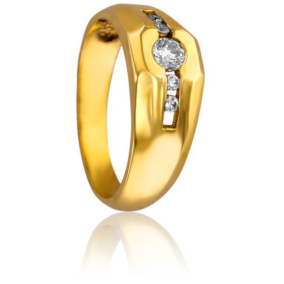 bague or jaune moderne