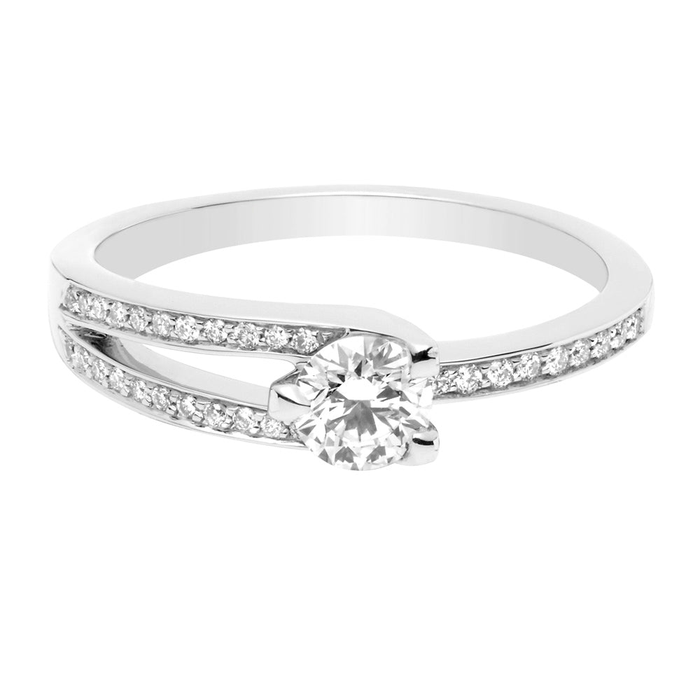 bague solitaire diamant fred