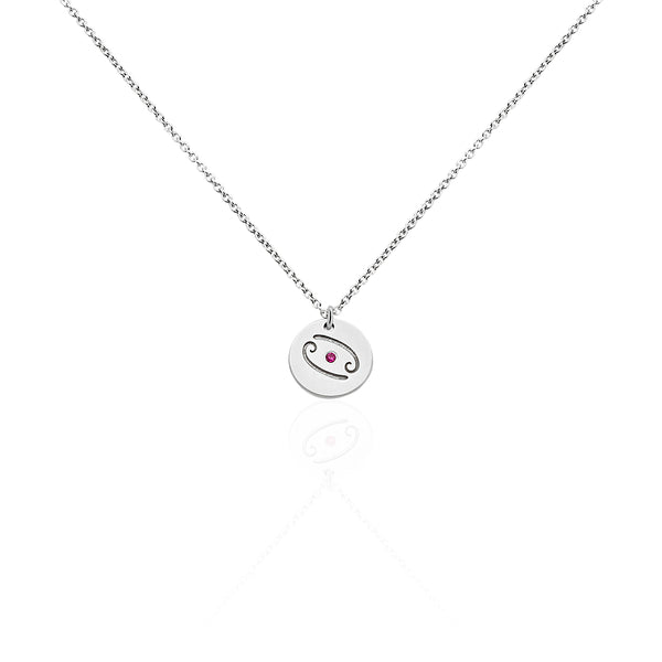 collier argent cancer