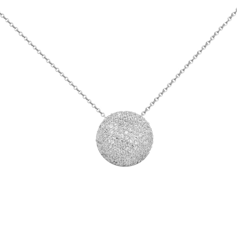 collier argent simple rond