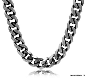 collier homme maille gourmette