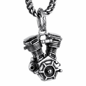 collier homme moto