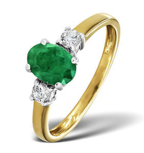 solitaire bague or emeraude