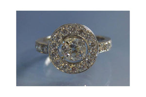 vente bague or blanc diamant occasion