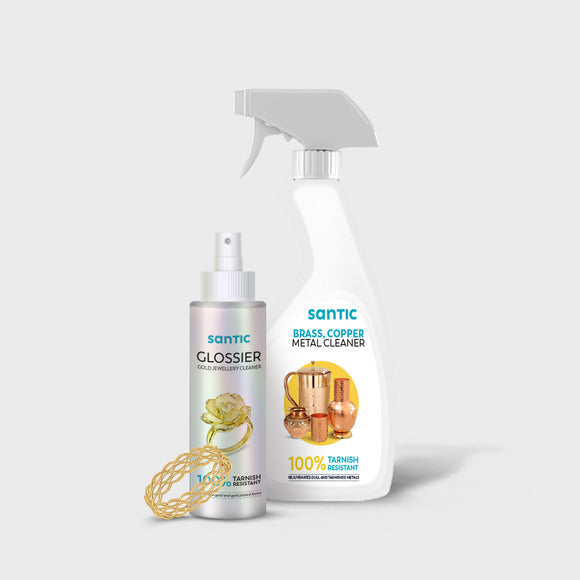 COMBO- Gold  Cleaner & Brass Copper Cleaner (Pack Of 1)