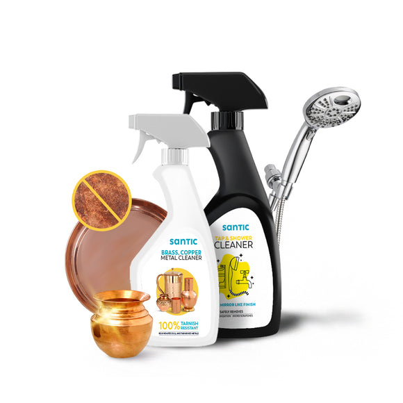 SPECIAL COMBO: Brass Copper Metal Cleaner And Tap & Shower Cleaner