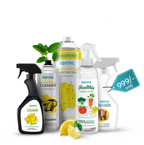 MEGA Diwali Cleaning Combo  (Tap & Shower Cleaner, Metal Cleaner, Disinfectant Spray, Car Cleaner & Healthie Veggie Wash)