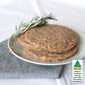 Beef Patties 113.5g Seasoned Uncooked Frozen