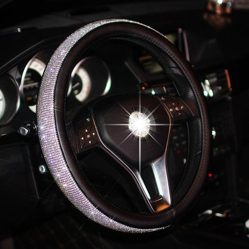 Swarovski crystal steering wheel cover - ONYOURMIND