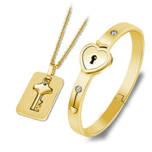 Load image into Gallery viewer, Love Lock Your Heart Bracelet Set - ONYOURMIND