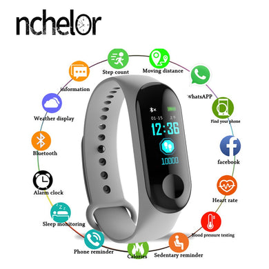 Smart Fitness watch bluetooth bracelet wristband - ONYOURMIND