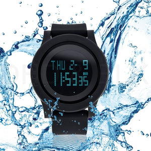 Fashion Men Alarm Waterproof LED Digital Date Military Sport Rubber Quartz Watch - ONYOURMIND