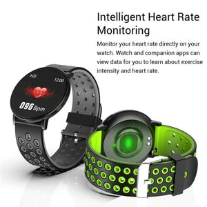 Smart Watch Blood Pressure Heart Rate Monitor for iOS Android - ONYOURMIND
