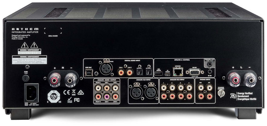 Stereo amplifiers with proper support for subwoofers