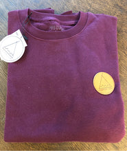 Load image into Gallery viewer, Crew Neck Club Patch - Burgundy  SA150