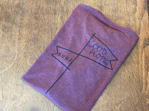 Tent Flag Tee - Burgundy Heather  SA112