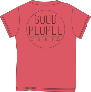 Tent Corporate Tee - Coral Heather  SA110