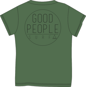 Tent Corporate Tee - Army Green Heather  SA112
