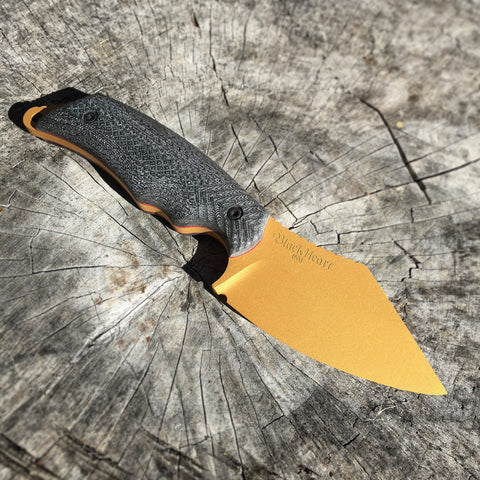 Blackheart Custom Pike Knife in Gold