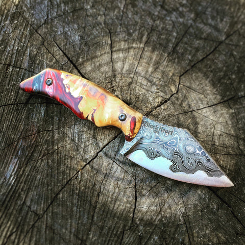 Blackheart Custom Damascus Steel Pike Knife
