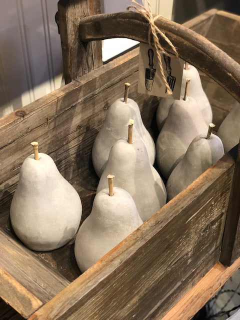 Cement Pears / Set of 2