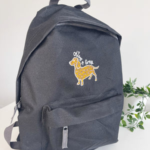 Olive n Grey Standard Backpack