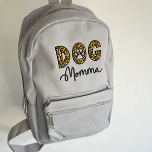 Dog Momma Leopard Backpack