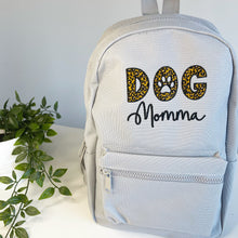 Load image into Gallery viewer, Dog Momma Leopard Backpack