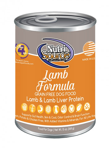 NutriSource Grain Free Lamb Formula Canned Dog Food