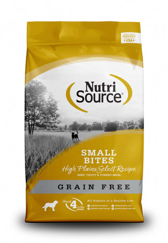 NutriSource Grain Free High Plains Select Small Bites Dry Dog Food