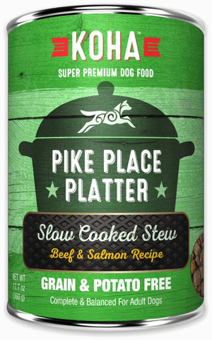 KOHA Grain & Potato Free Pike Place Platter Slow Cooked Stew with Beef & Salmon Canned Dog Food