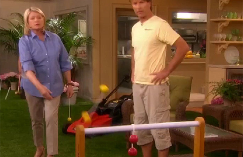 Martha Stewart featured Ladder Golf on her show.