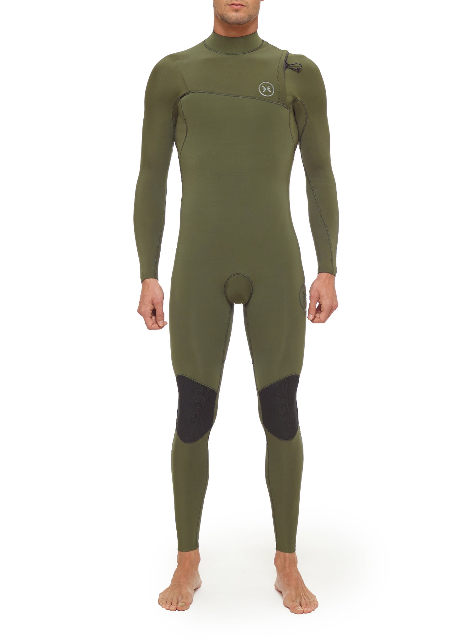 Combinaisons De Surf Homme Competition 3/2 Zipperless Vert