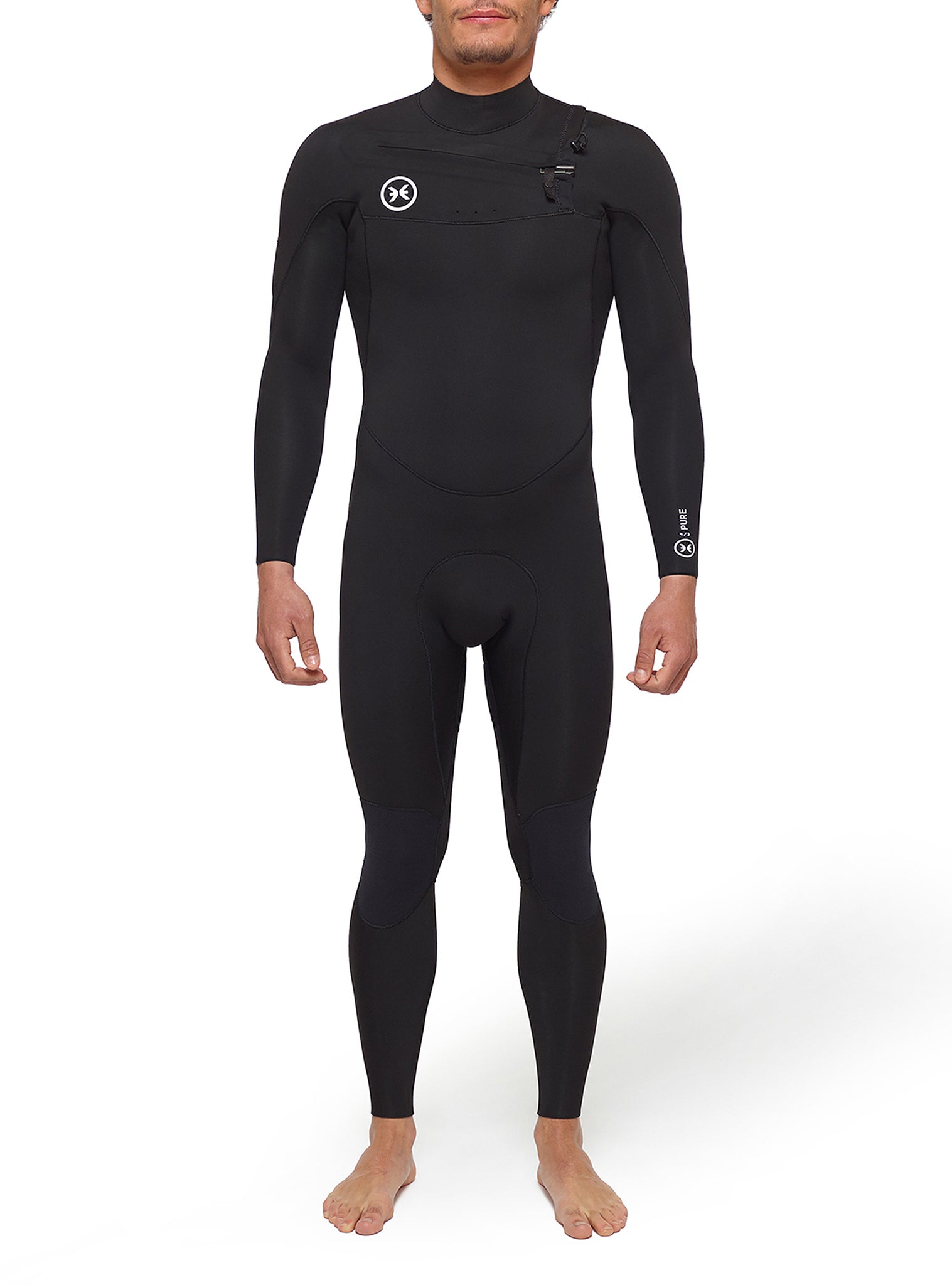 Combinaisons De Surf Homme Pure 4/3 Chest Zip Noir