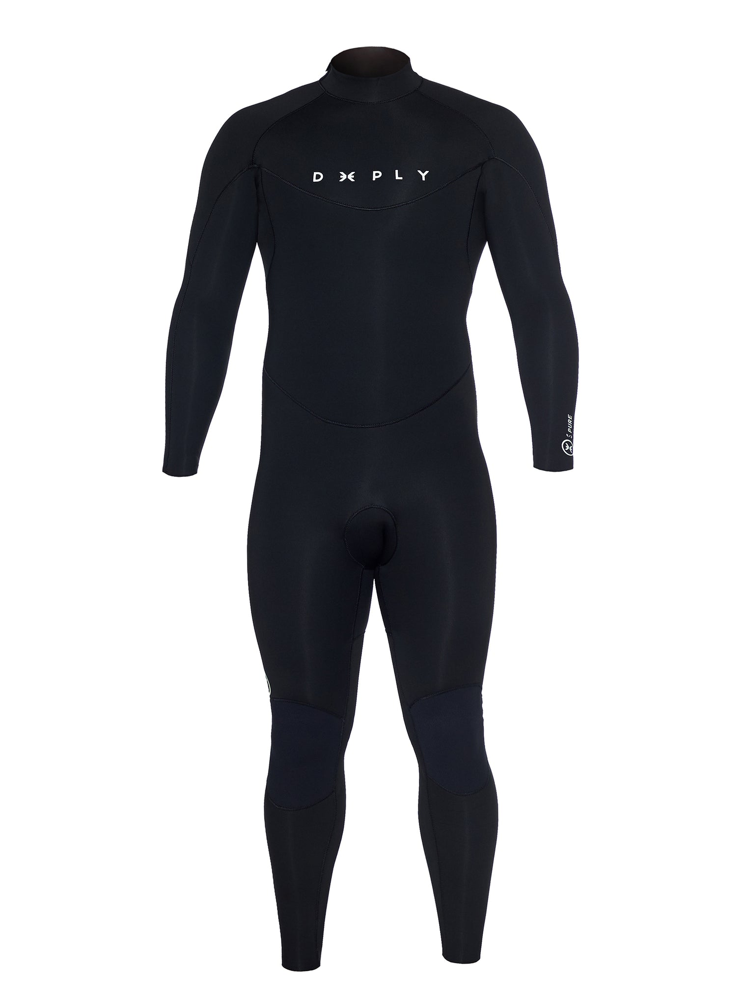 Combinaisons De Surf Homme Pure 4/3 Back Zip Noir