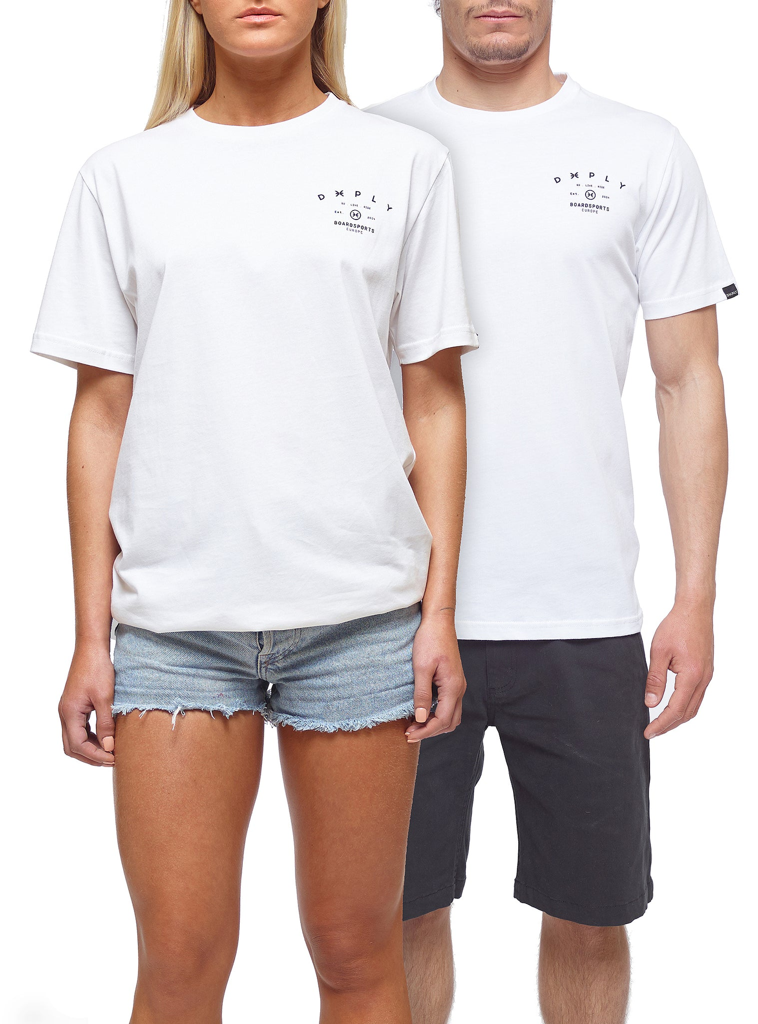 Deeply Europe T-shirt Manches Courtes Blanc